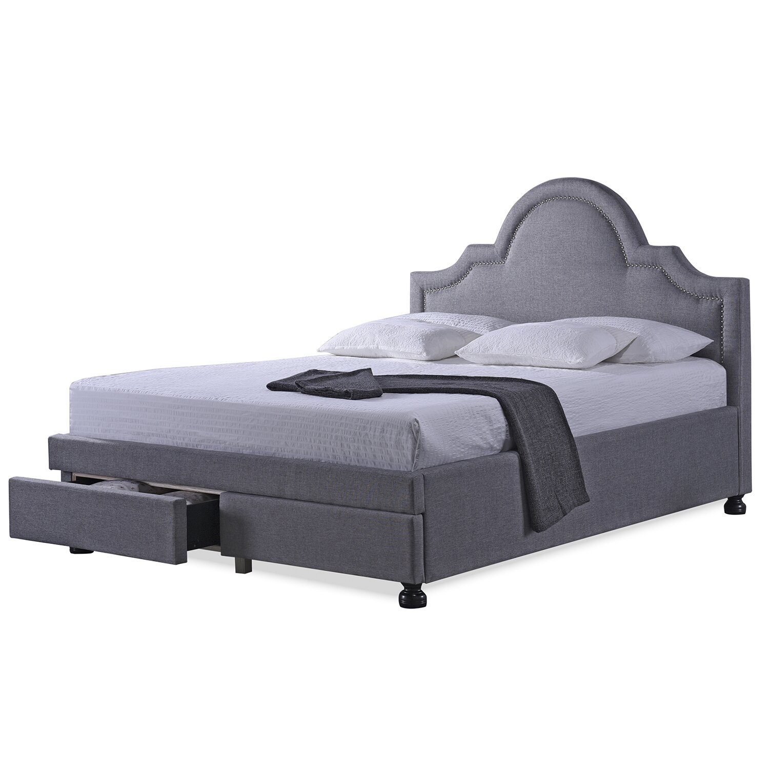 wholesale interiors king upholstered storage platform bed reviews wayfair. Black Bedroom Furniture Sets. Home Design Ideas
