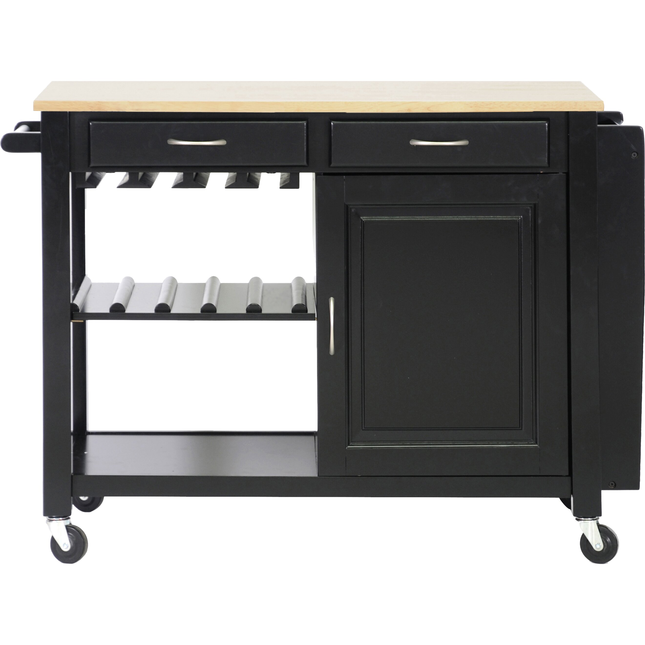 baxton studio kitchen island with wood top wayfair