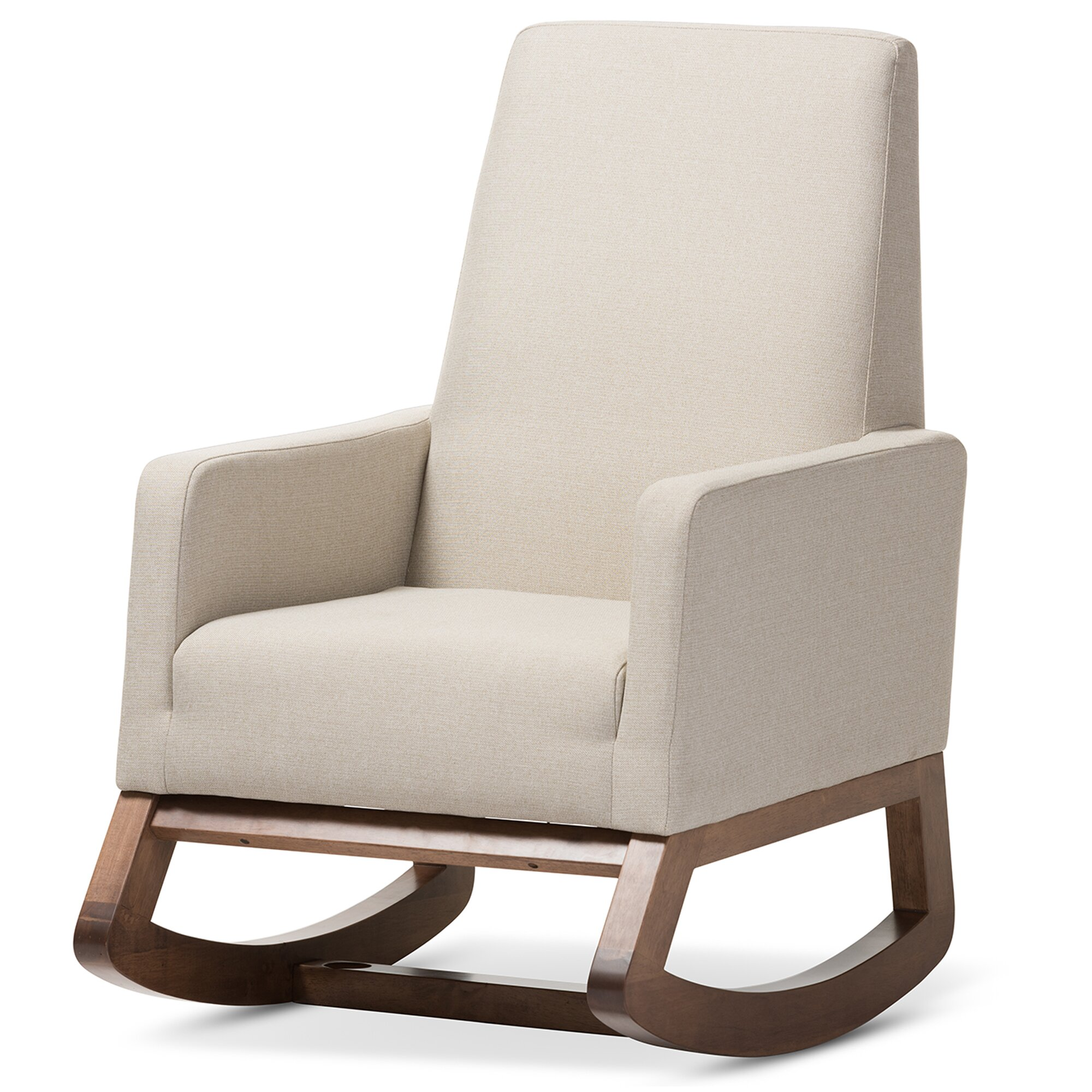 Superb img of Sey Mid Century Walnut Modern Rocking Chair By Chair Golime.co with #3C2A20 color and 2000x2000 pixels