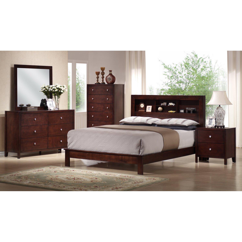 Wholesale interiors baxton studio panel 5 piece bedroom - Wholesale bedroom furniture sets ...