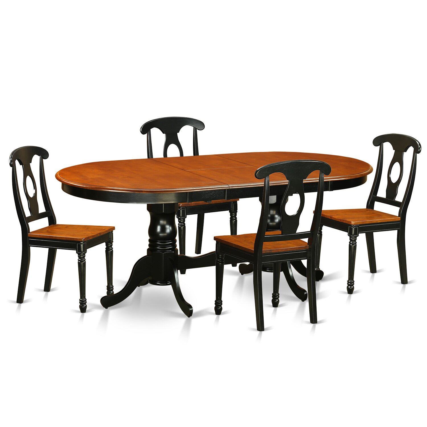 PC Dining Room Set Dining Table With 4 Wood Dining Chairs PLKE5 BCH