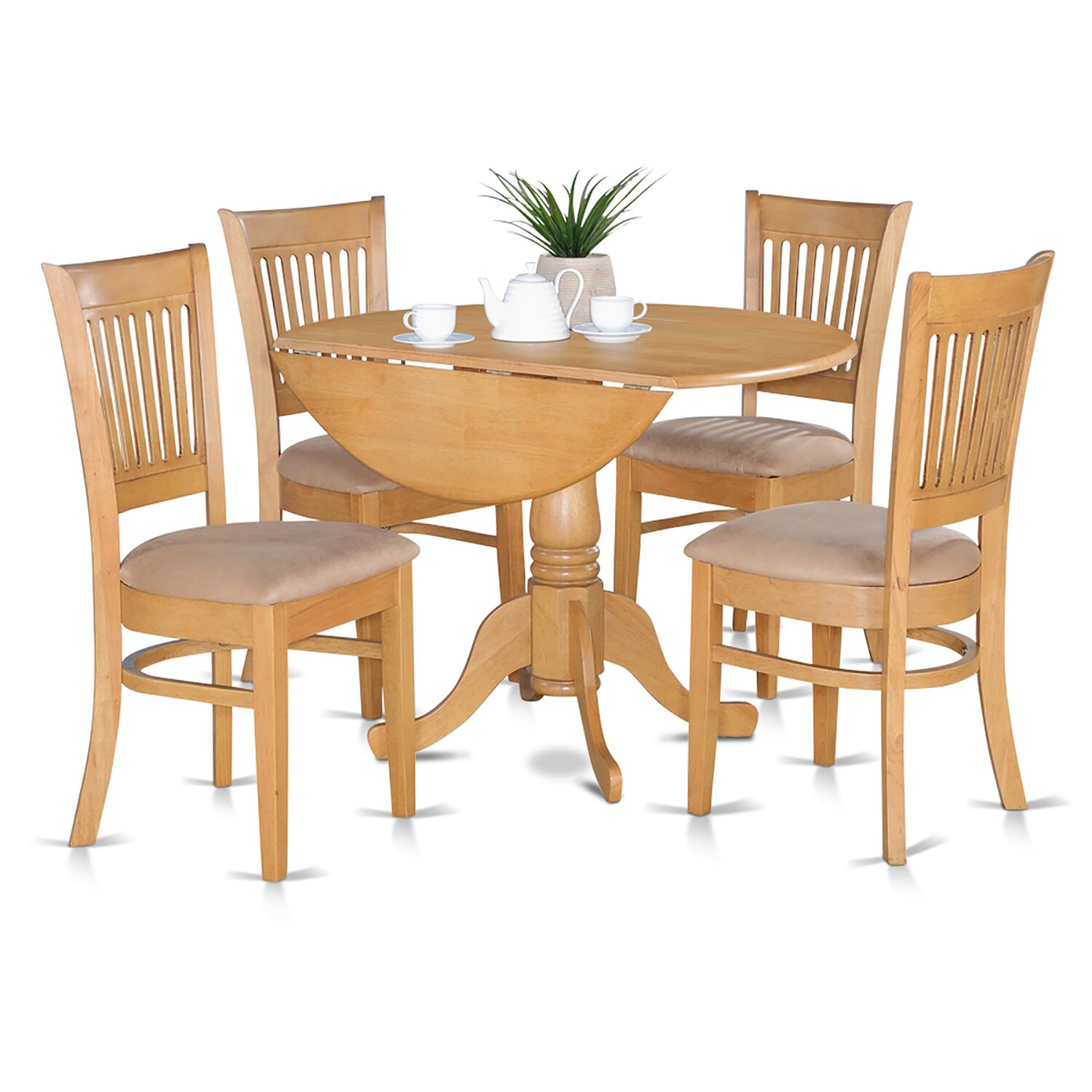 East west dublin 5 piece dining set reviews wayfair for Small kitchen table with 4 chairs