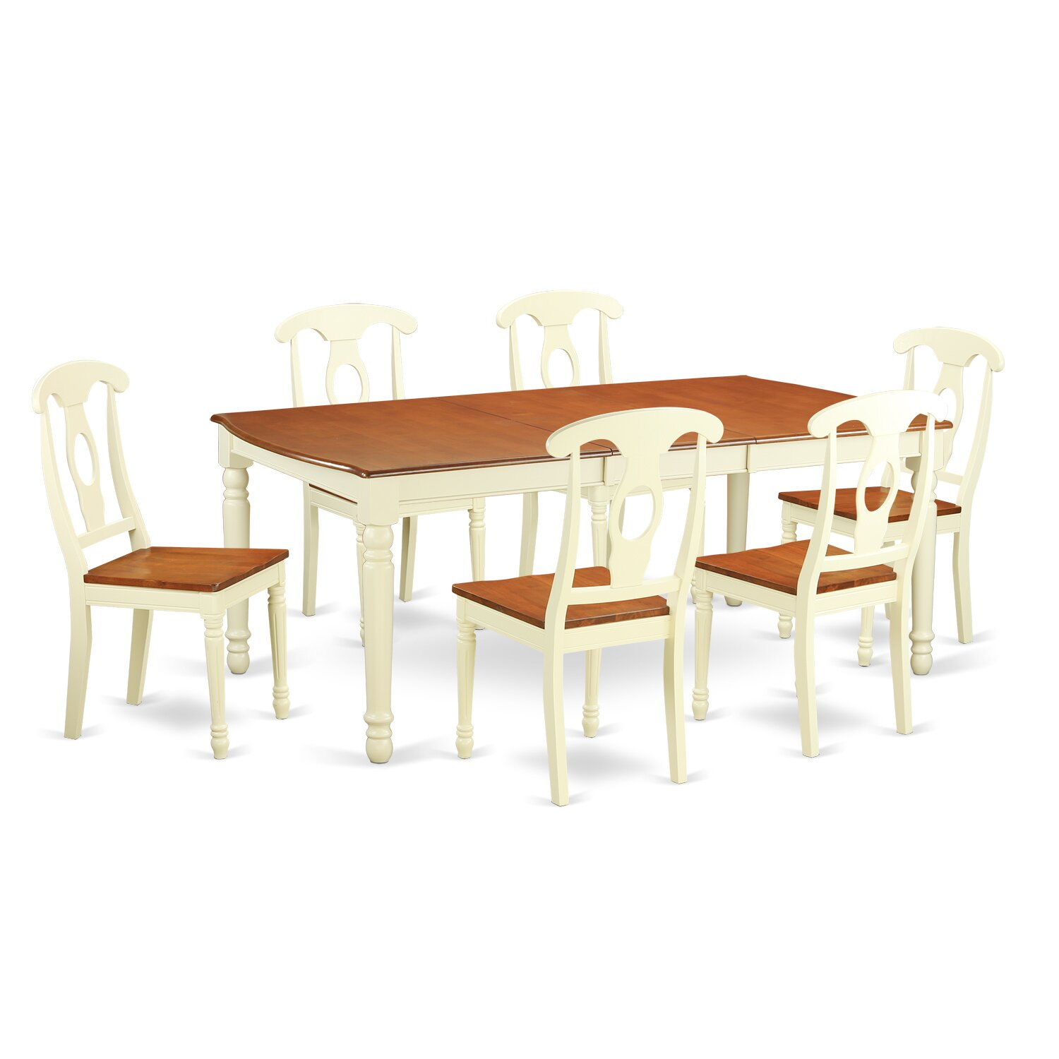 East west dover 7 piece dining set reviews wayfair for Kitchen table set 7 piece