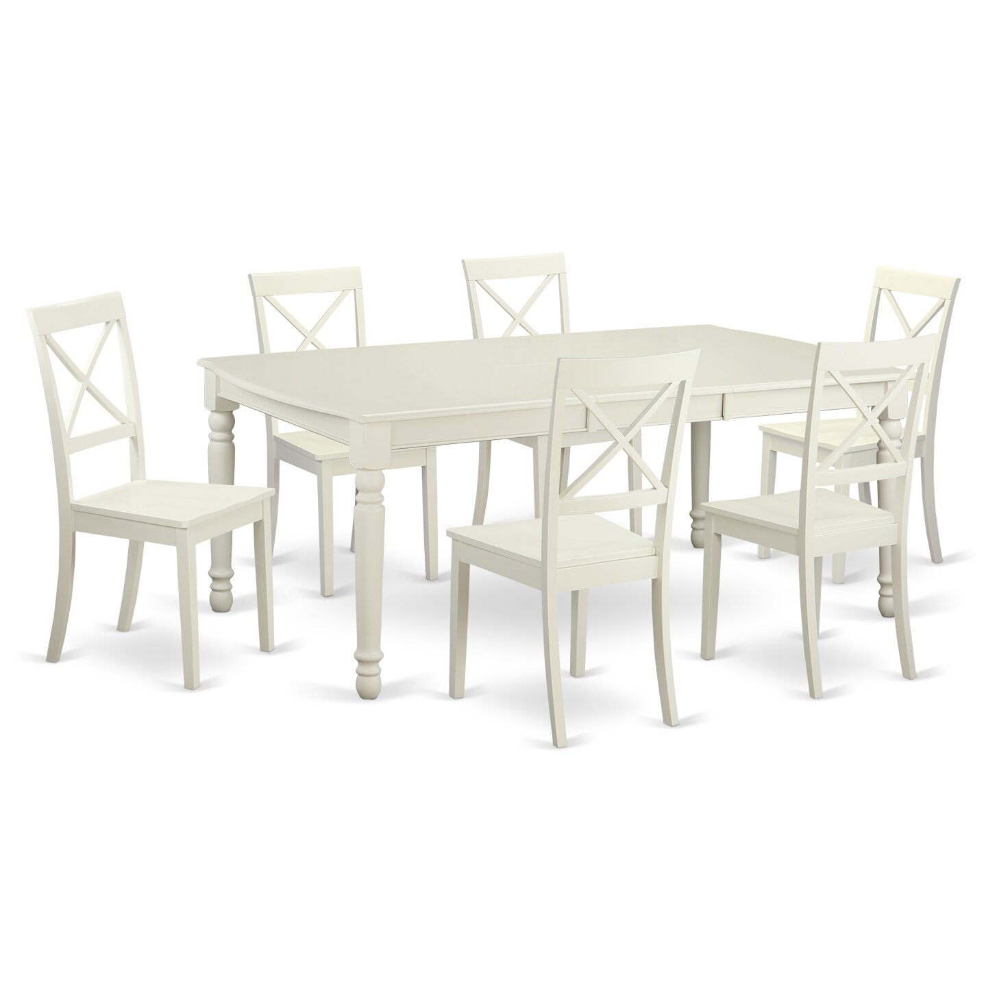 Dover 7 piece dining set wayfair for Kitchen table set 7 piece