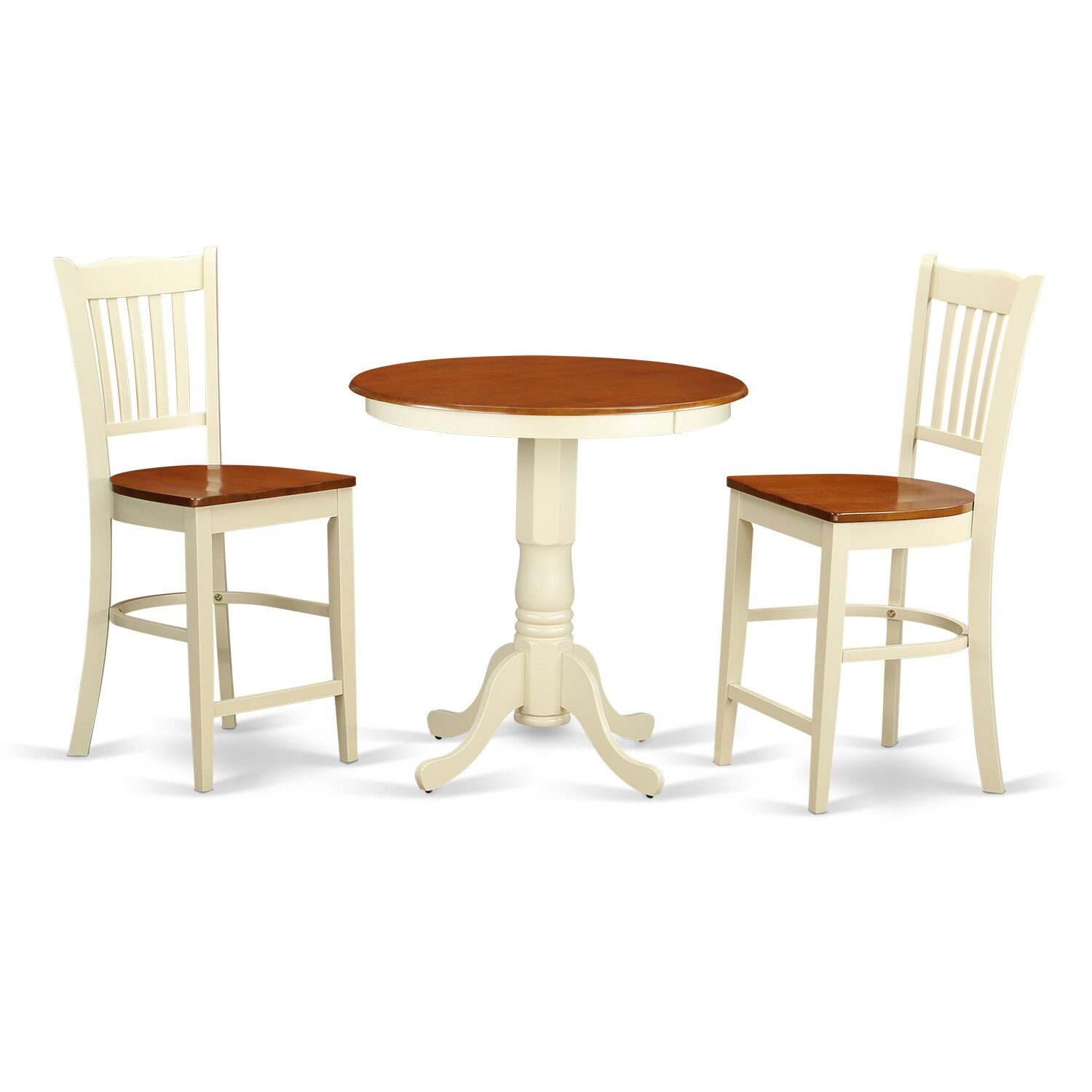 Topeakmart Round Pub Table Bar Height Chairs Height: Eden 3 Piece Counter Height Pub Table Set
