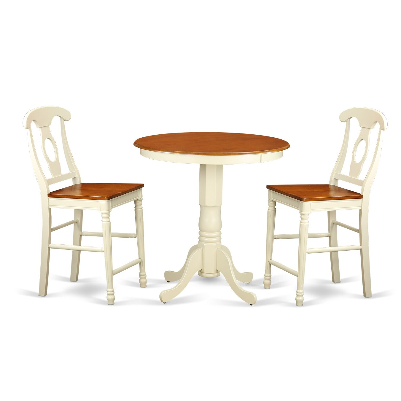 Eden 3 piece counter height pub table set wayfair for 3 piece dining room table
