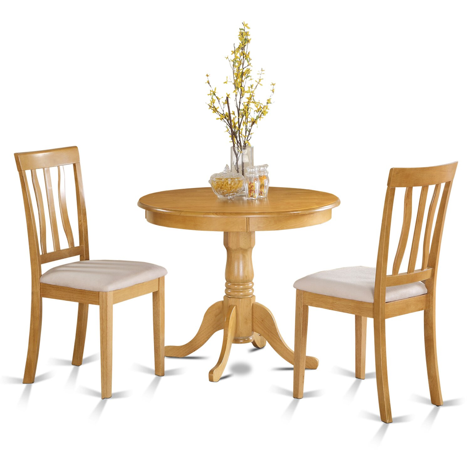 Dining Table Set For 2 Chairs 3 Piece Kitchen Room: East West 3 Piece Bistro Set