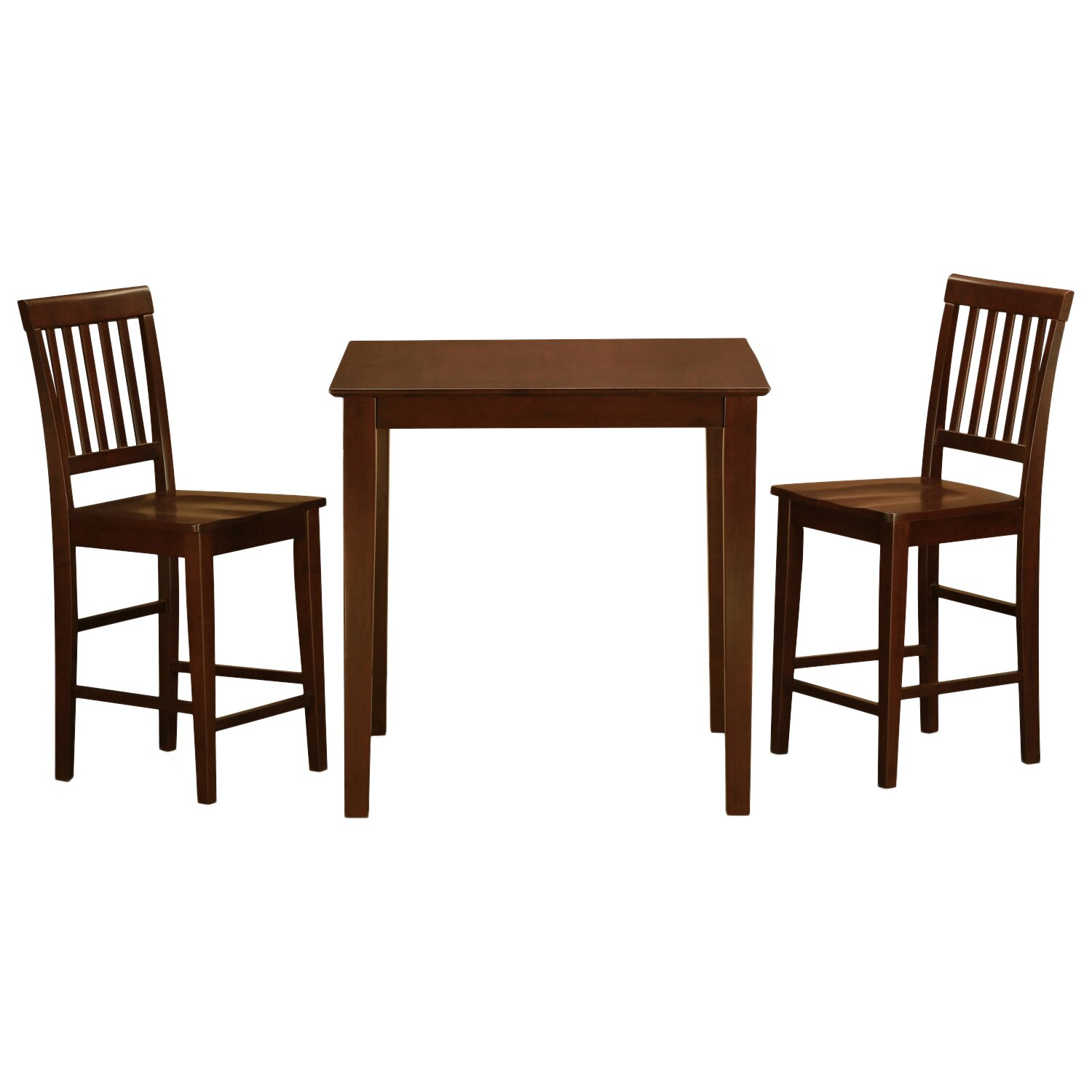 Wooden Importers 3 Piece Dining Set Reviews: Wooden Importers Vernon 3 Piece Counter Height Dining Set