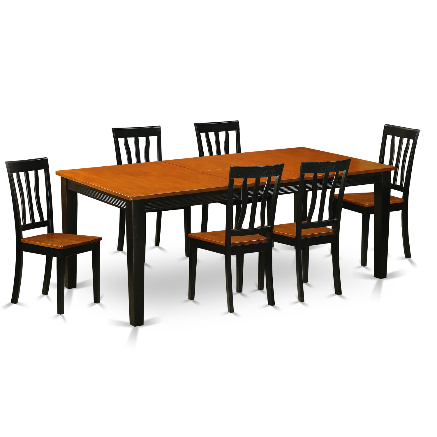 Very Impressive portraiture of  Dining Set Dining Table with 6 Solid Wood Dining Chairs QUAN7 BCH.jpg with #B2510F color and 1500x1500 pixels