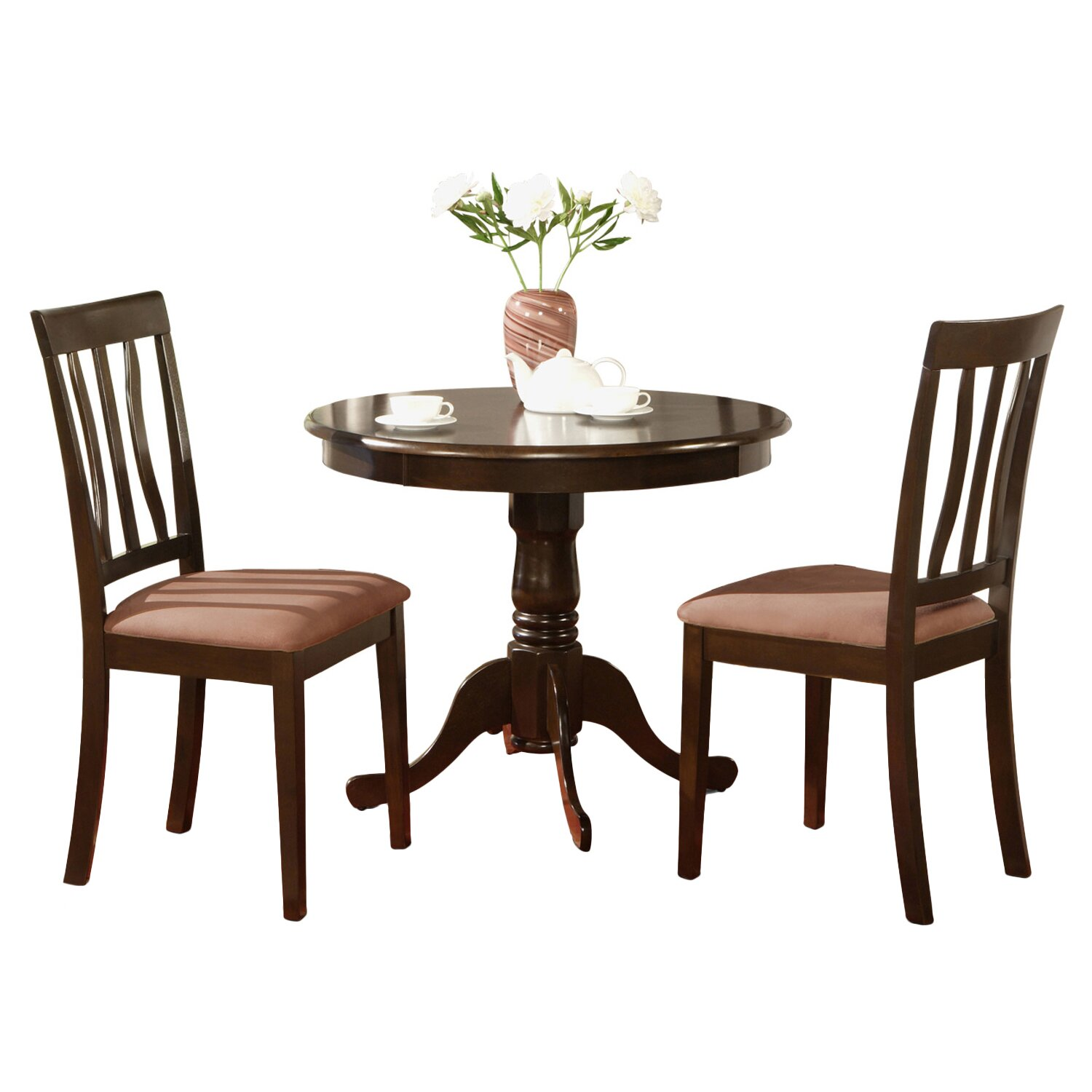 wooden importers antique 3 piece dining set reviews wayfair. Black Bedroom Furniture Sets. Home Design Ideas