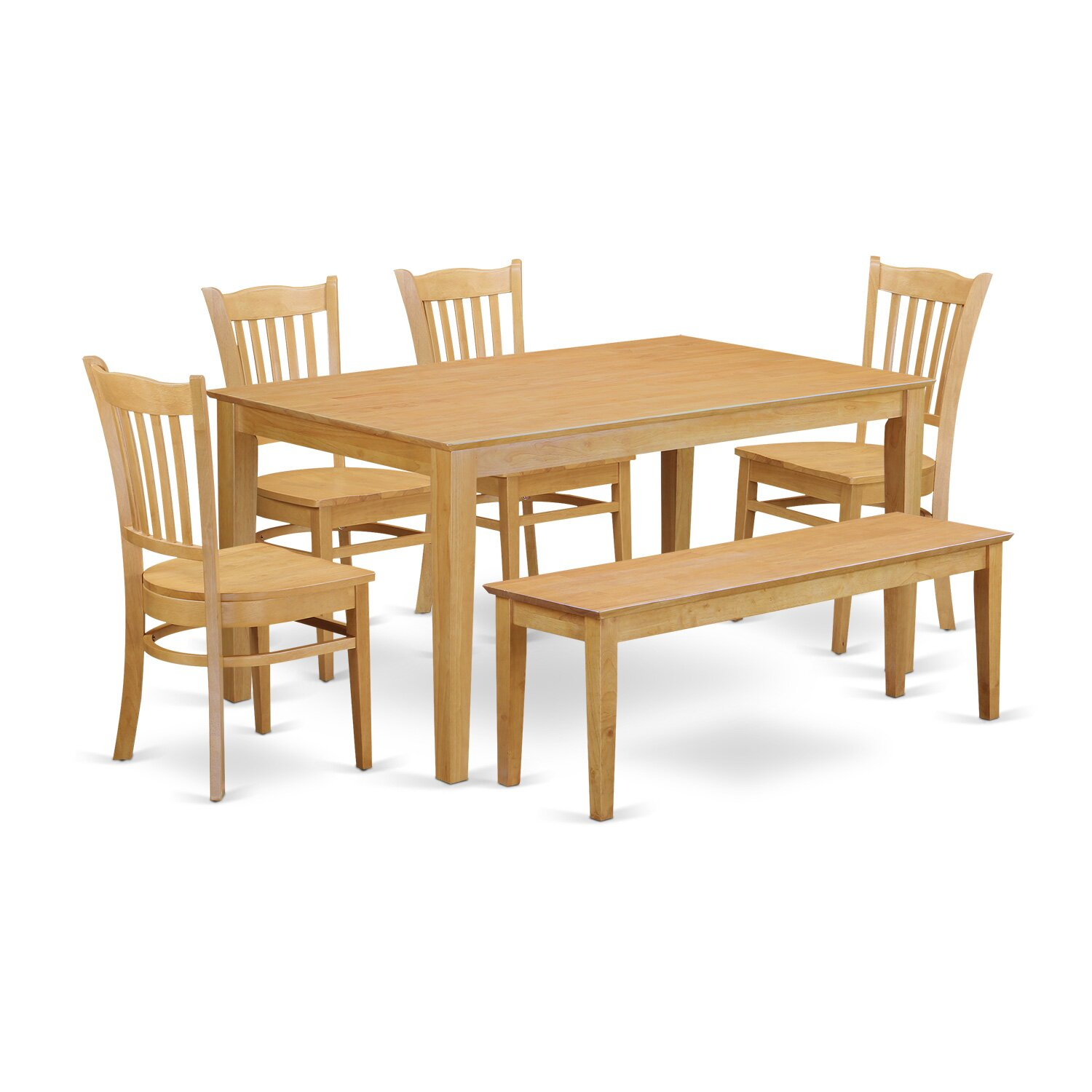 Bench Set Dining Table And 4 Kitchen Chairs And Bench CAGR6 OAK W.jpg. Full resolution‎  img, nominally Width 1500 Height 1500 pixels, img with #421E09.