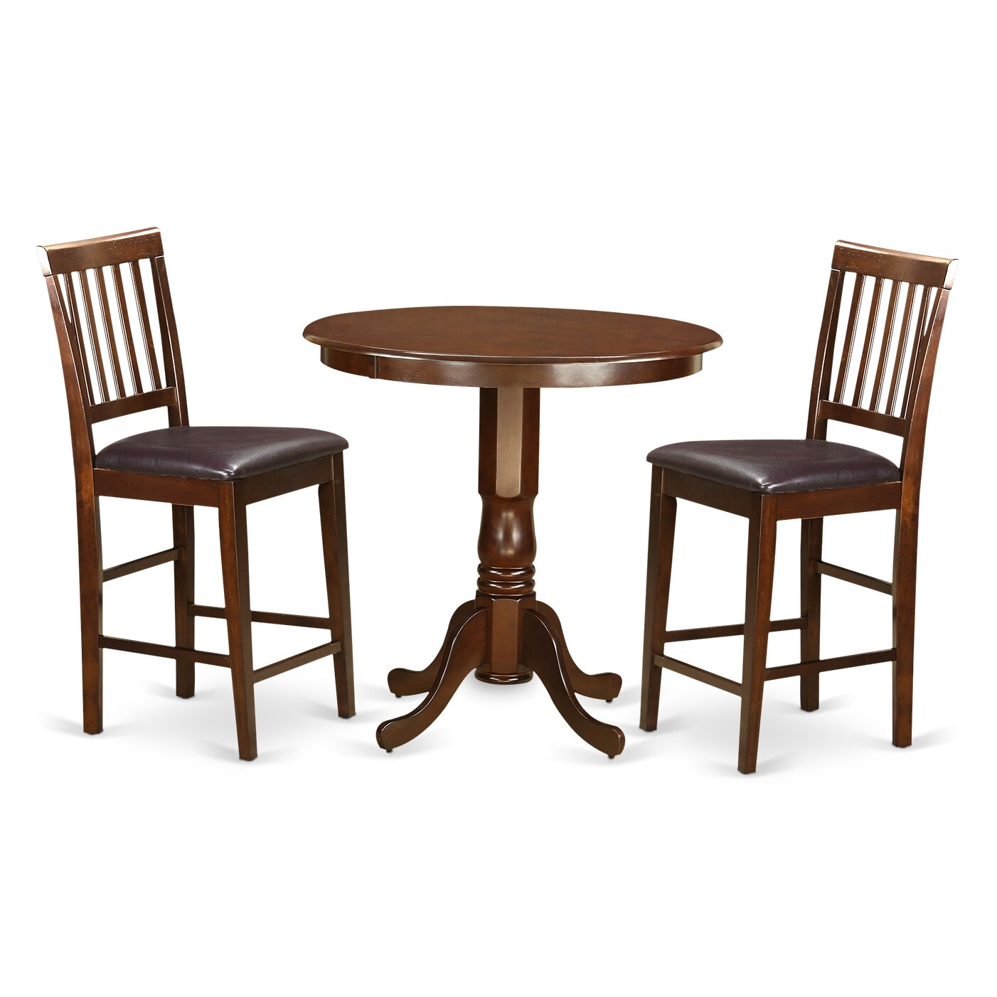 jackson 3 piece counter height pub table set wayfair. Black Bedroom Furniture Sets. Home Design Ideas