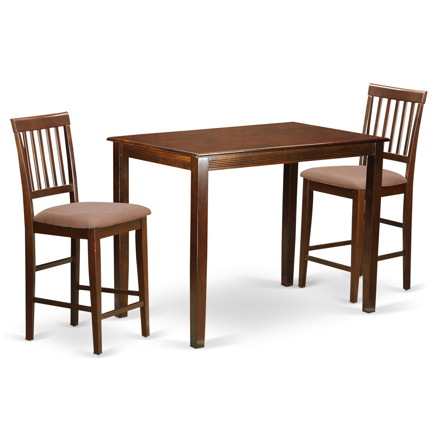 wooden importers yarmouth 3 piece counter height pub table set wayfair. Black Bedroom Furniture Sets. Home Design Ideas