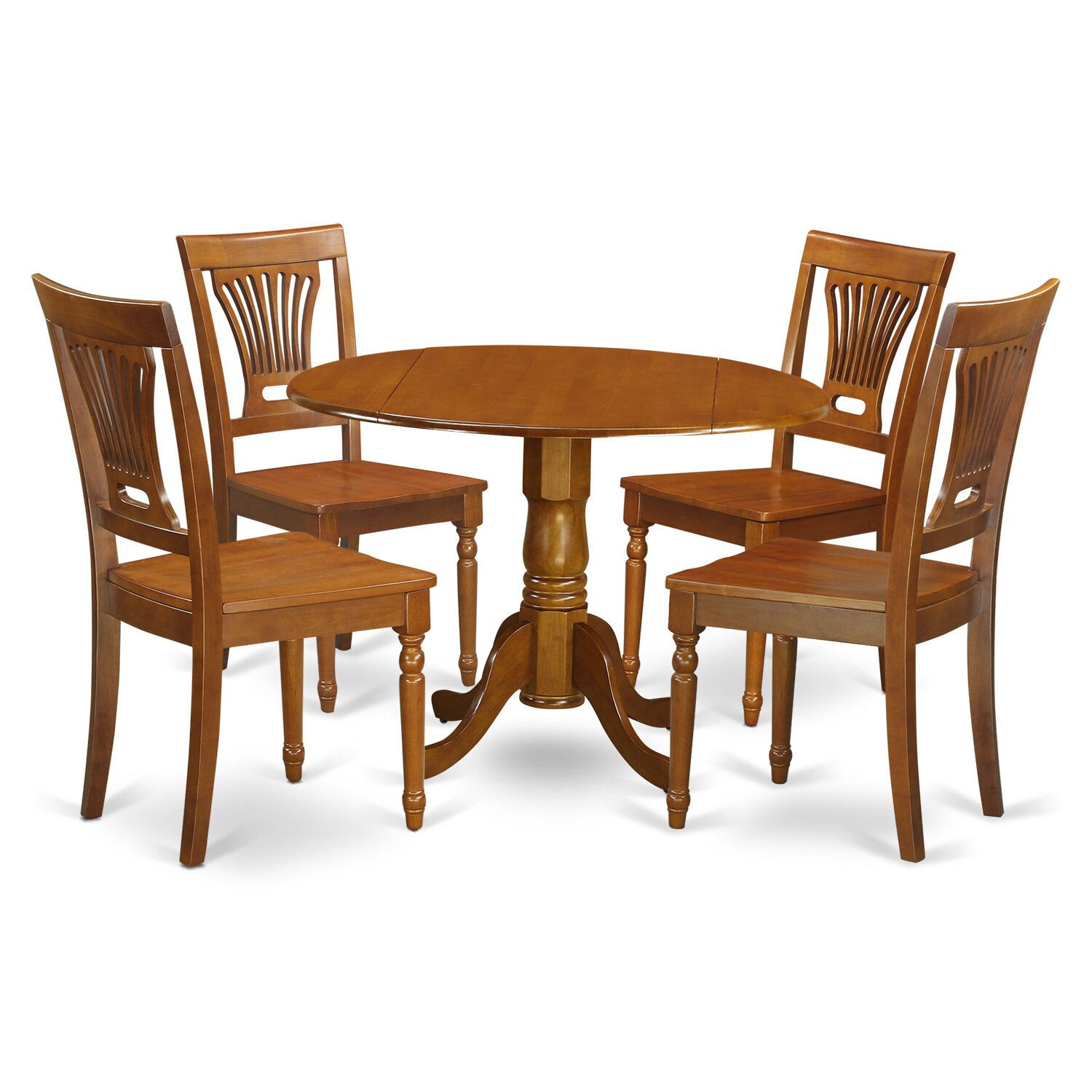 Dublin 5 piece dining set wayfair for Small kitchen table for 4