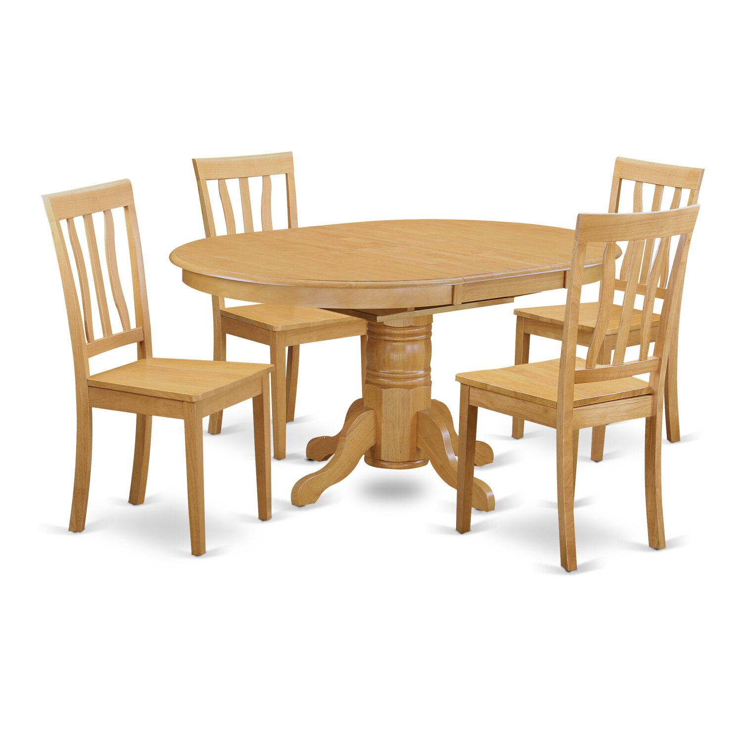 Easton 5 piece dining set wayfair for Dining room tables easton