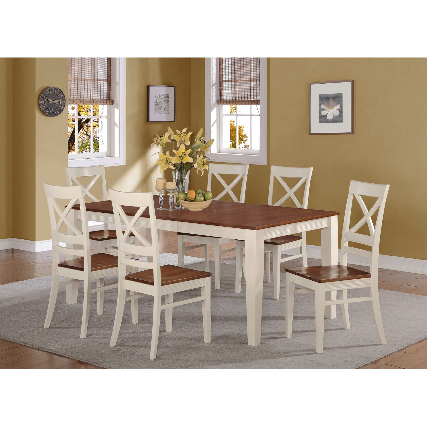 Wooden Importers 3 Piece Dining Set Reviews: Wooden Importers Quincy 7 Piece Dining Set & Reviews