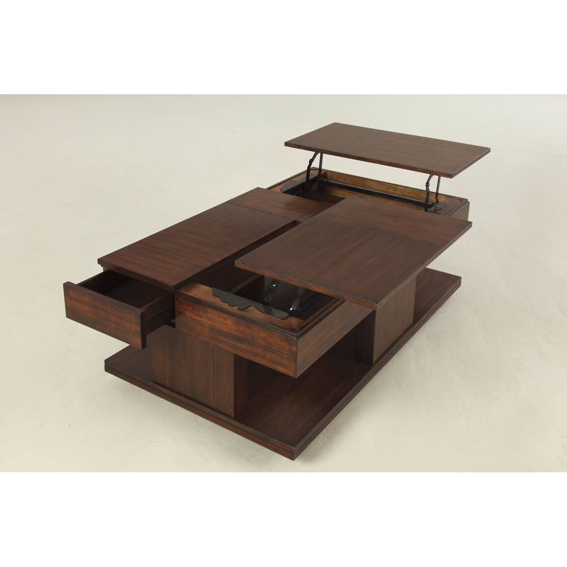 Darby home co dail coffee table with double lift top reviews wayfair Lifting top coffee table