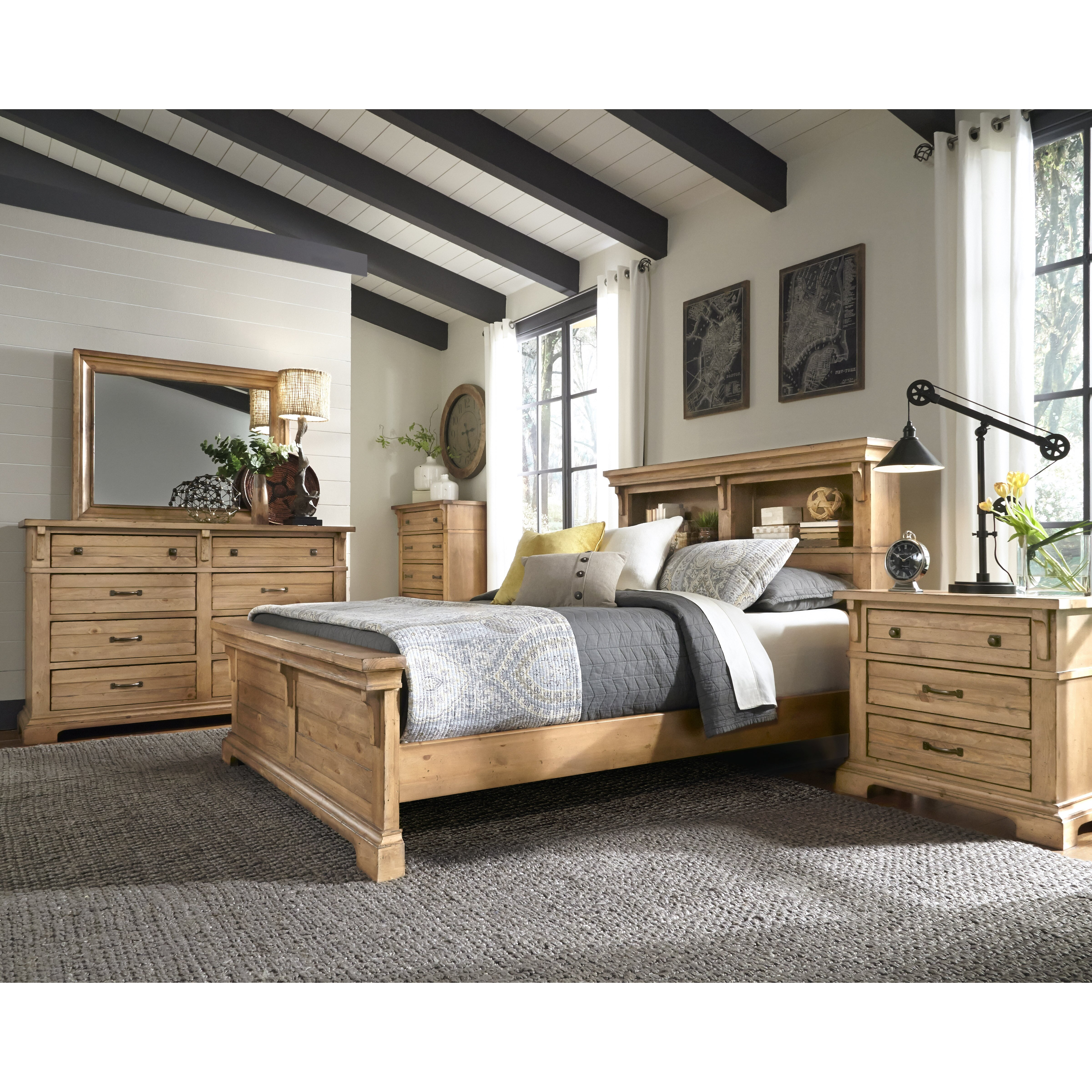 Chestnut hill wood bookcase headboard wayfair - Bedroom furniture bookcase headboard ...