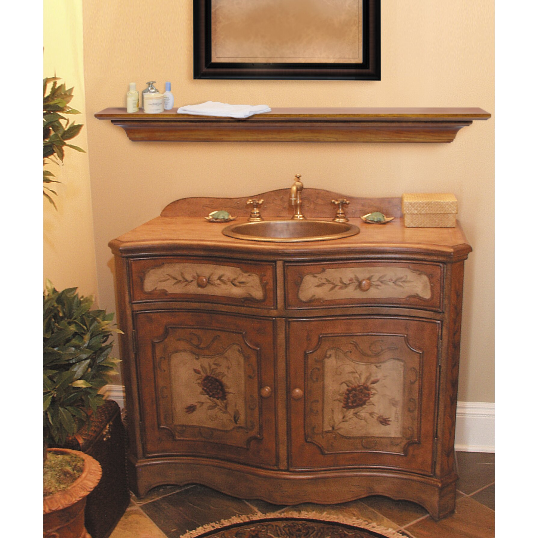 48 homestead fireplace mantel shelf wayfair. Black Bedroom Furniture Sets. Home Design Ideas