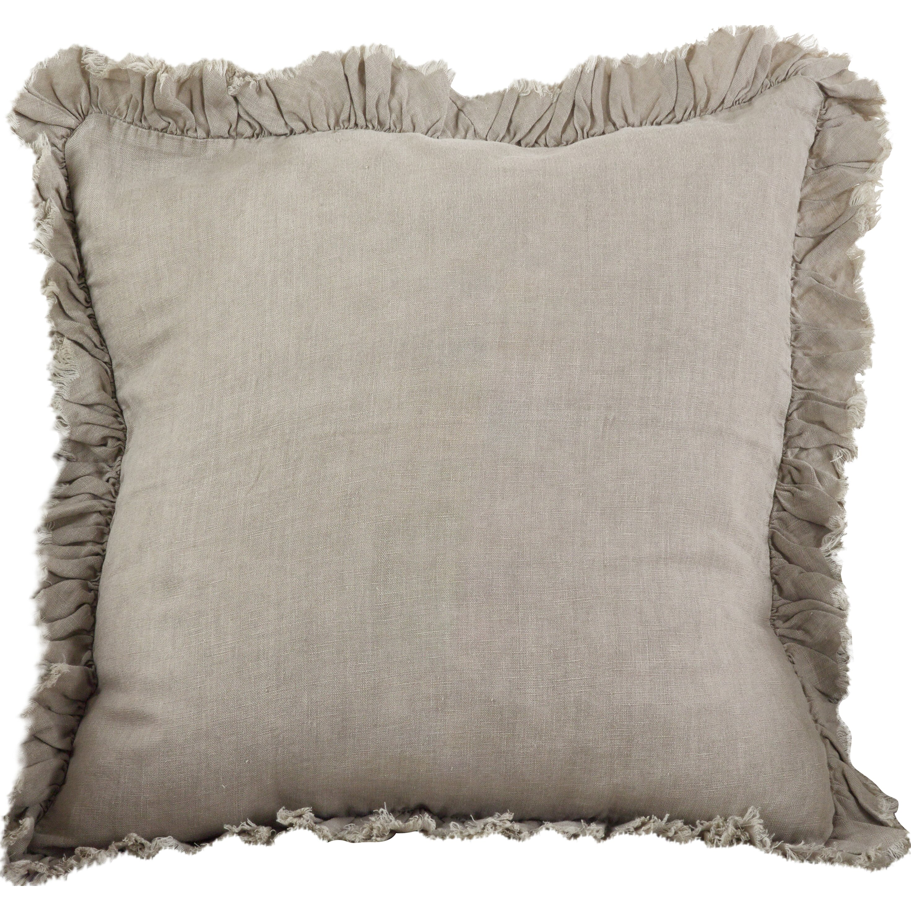Ruffled Linen Throw Pillow Wayfair