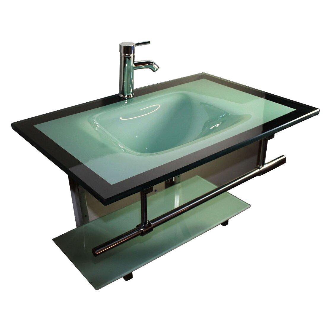 Kokols 31 Quot Single Floating Bathroom Vanity Set Allmodern