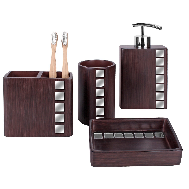 Marquee 4 piece bathroom accessory set wayfair for Bathroom 4 piece set