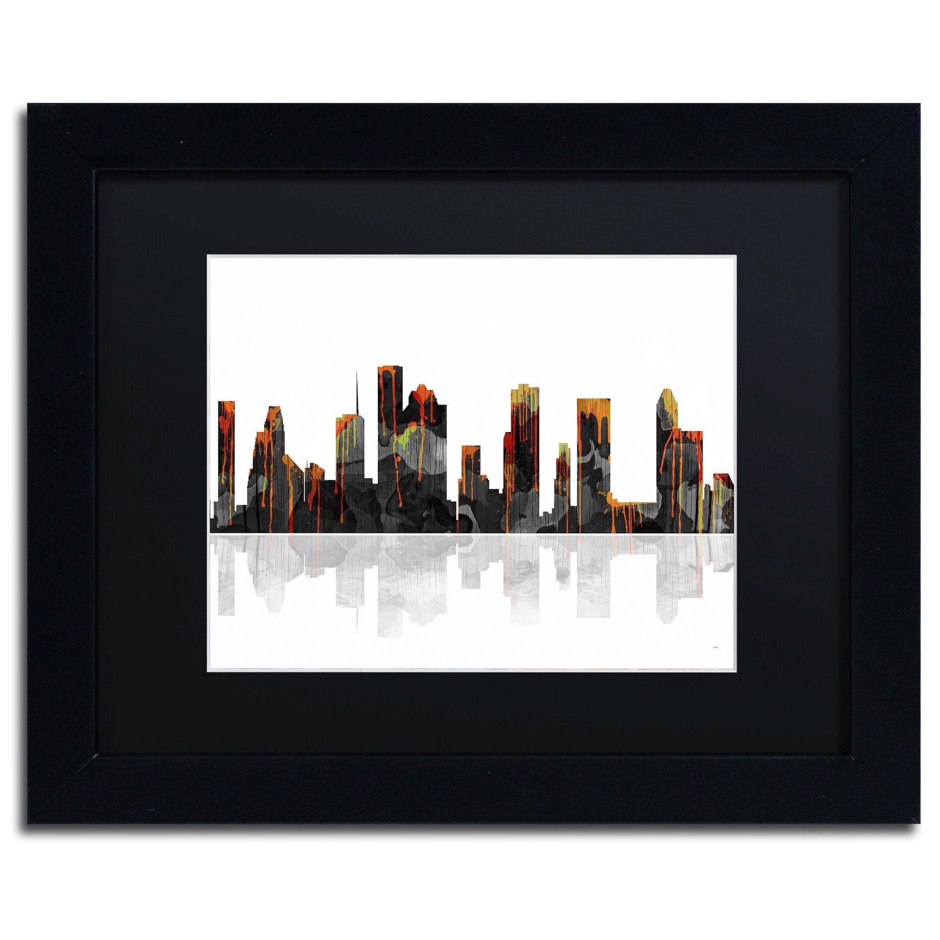 Trademark Art Houston Texas Skyline By Marlene Watson