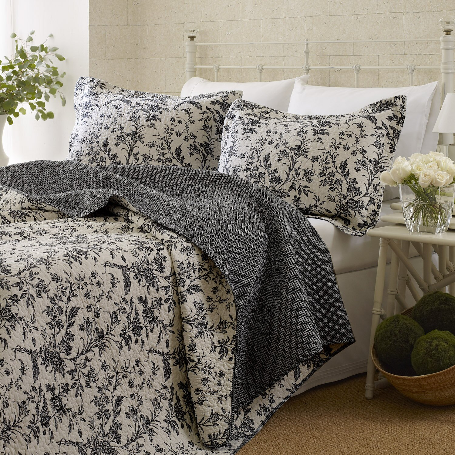 Laura Ashley Home Amberley Reversible Coverlet Set