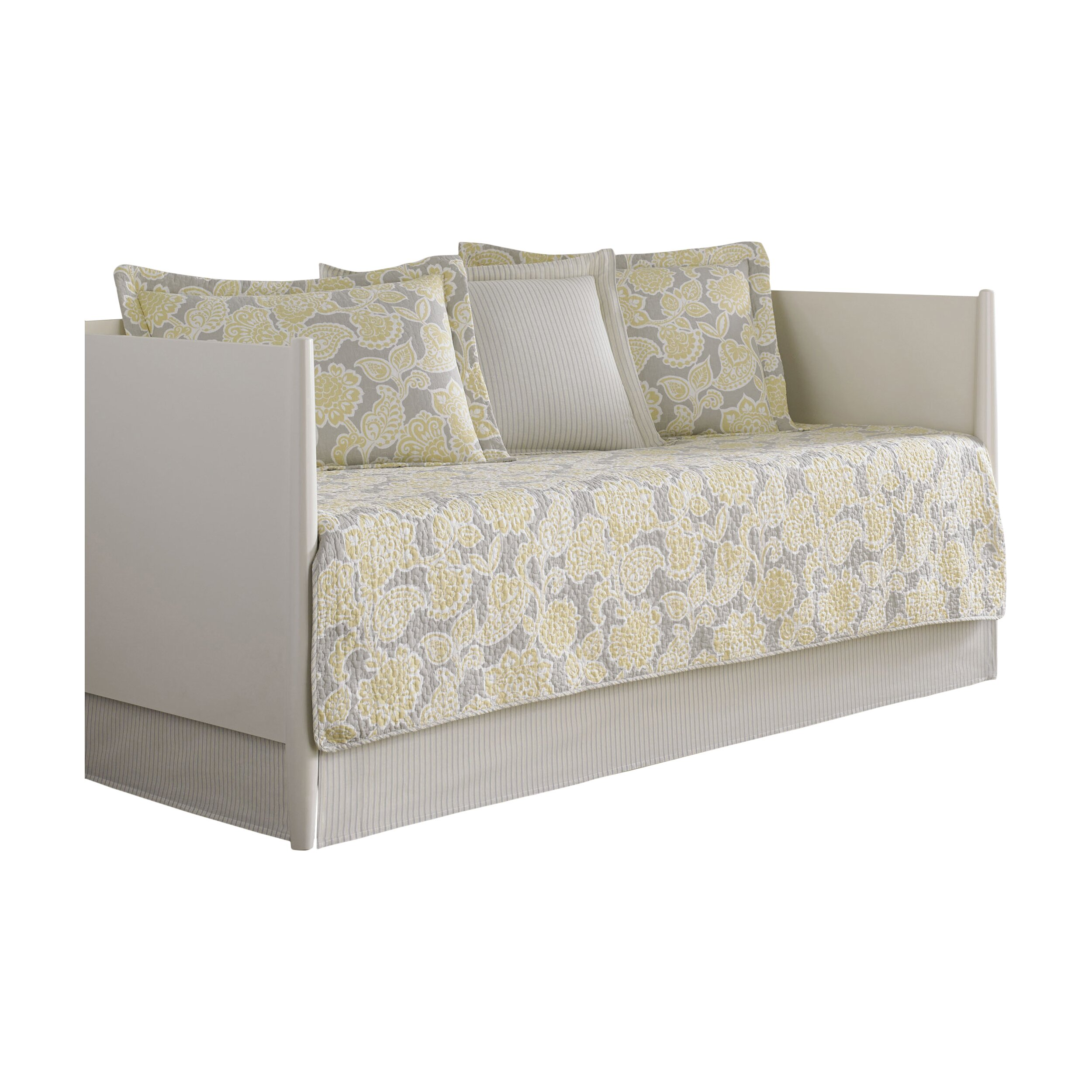 Gray And Yellow Daybed Bedding : Laura ashley home joy piece daybed quilt set in gray