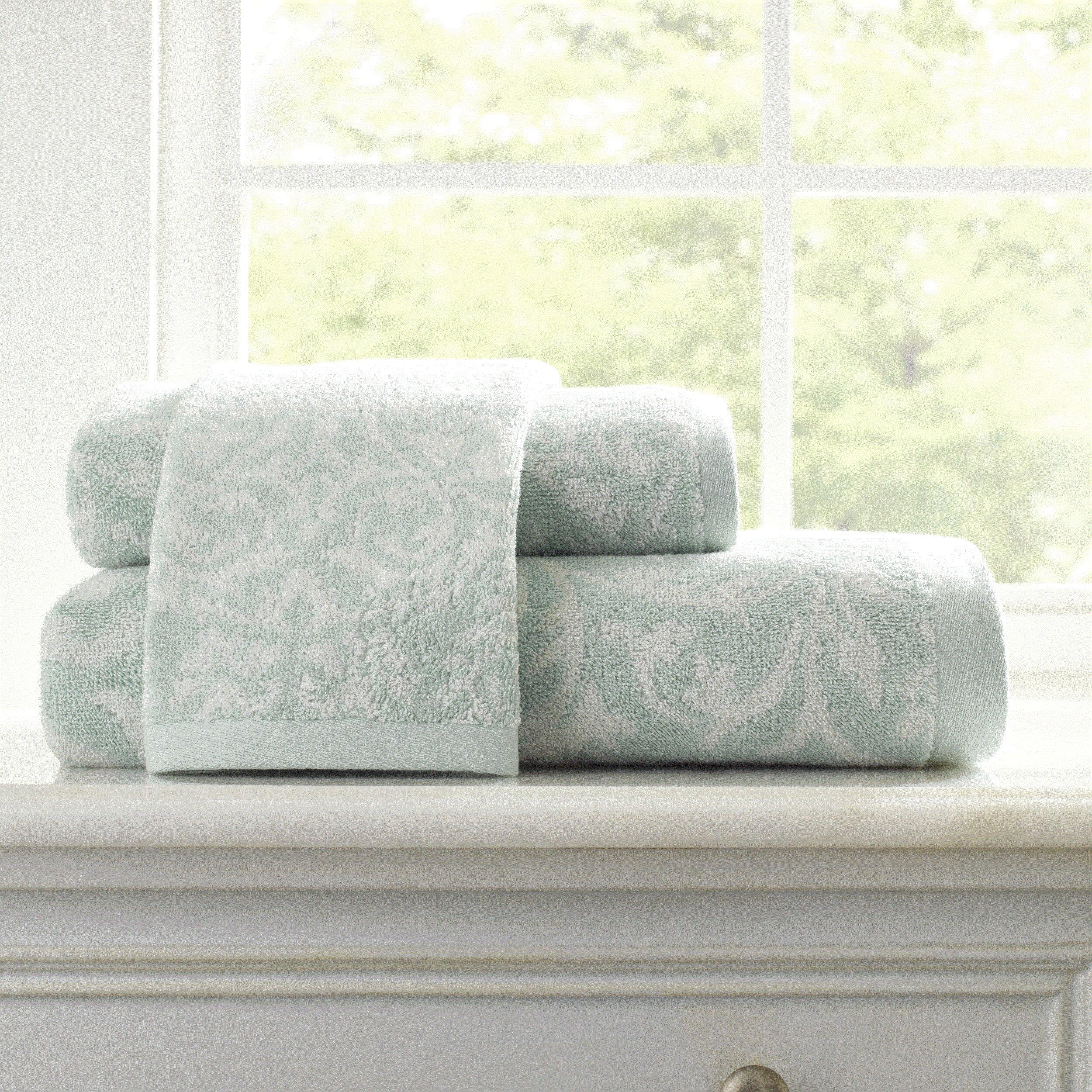 Laura Ashley Home Avery Damask Jacquard 3 Piece Towels Set Allmodern