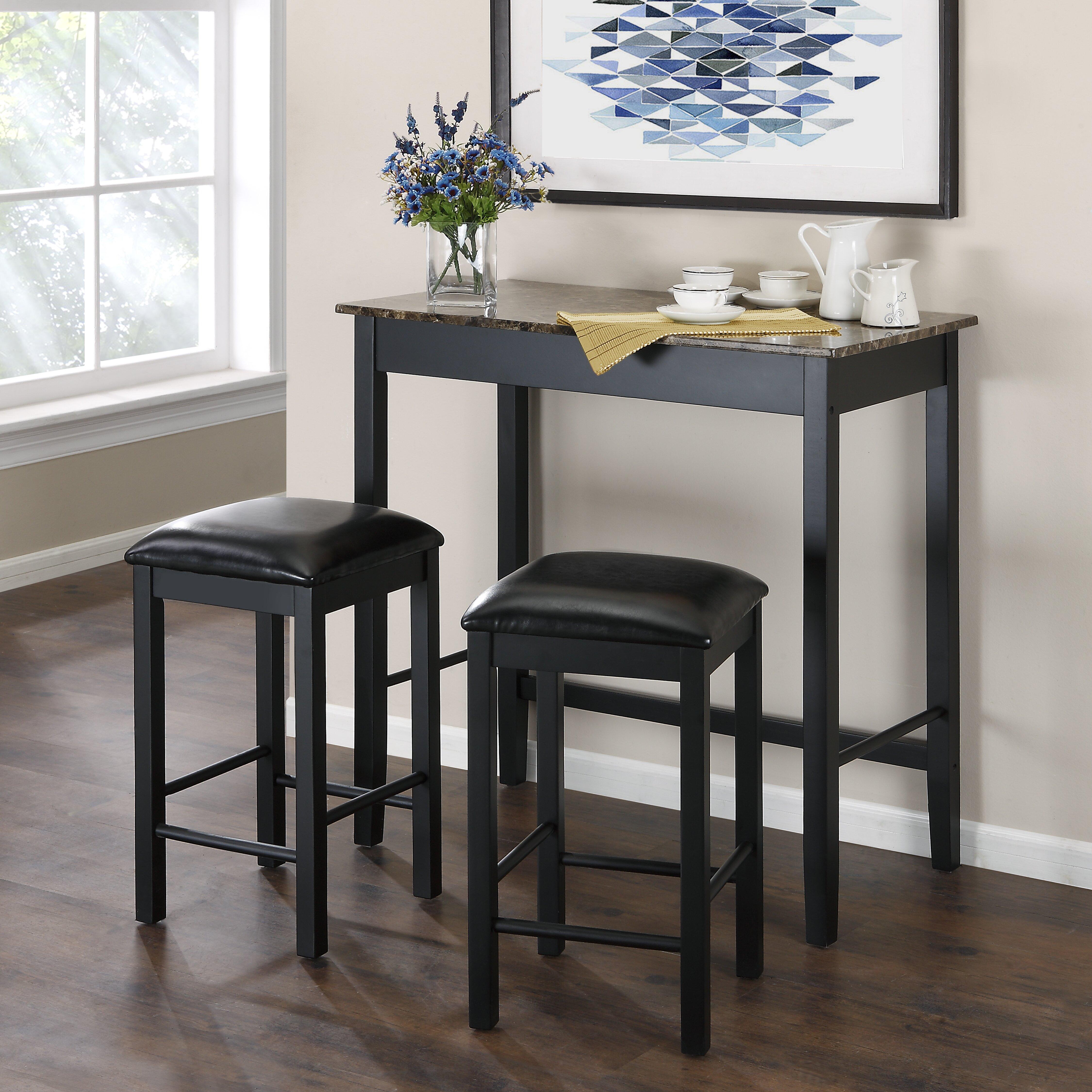 3 Piece Dining Room Set: Dorel Living Devyn 3 Piece Dining Set & Reviews