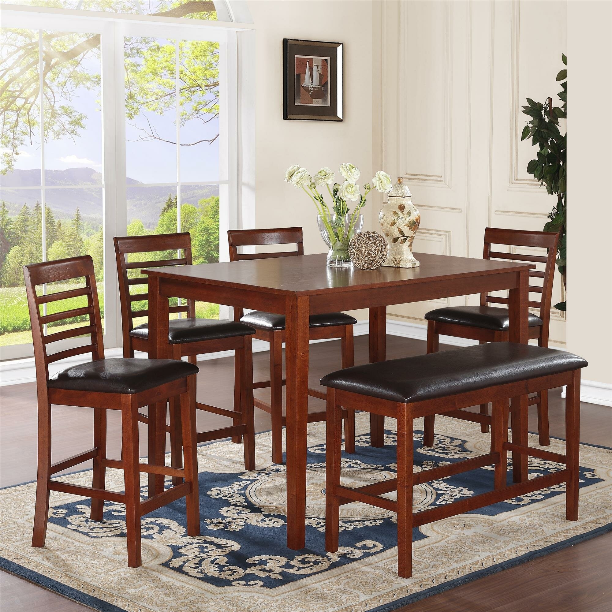 Maccauley 6 Piece Counter Height Dining Set Wayfair