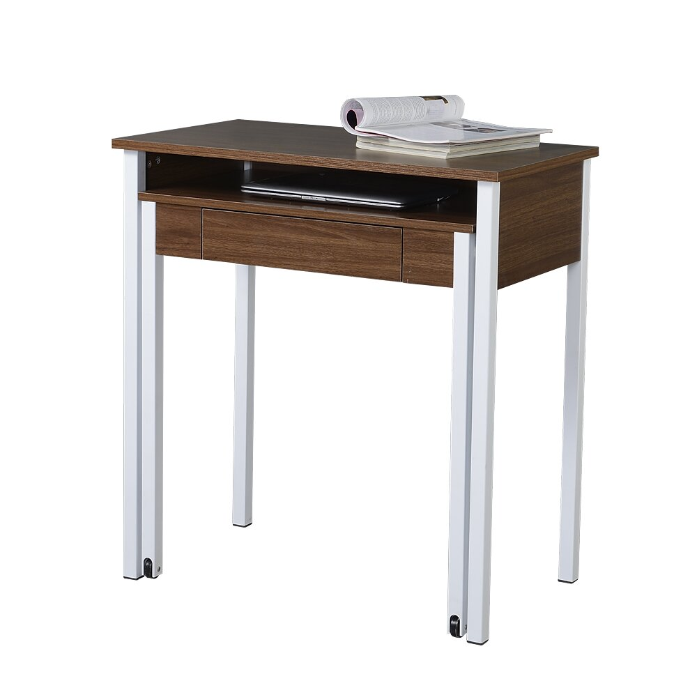 Compact Retractable Computer Desk With Keyboard Tray Wayfair