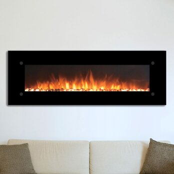 touchstone onyxxl electric wall mounted electric fireplace