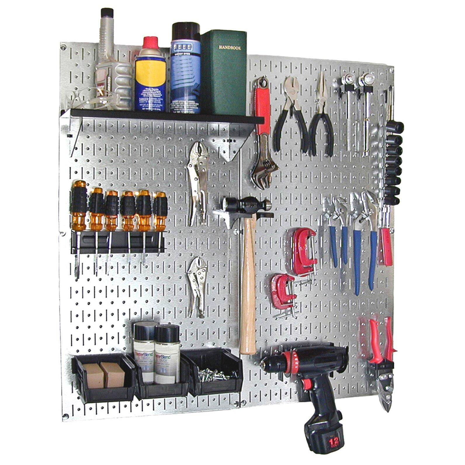 Garage Tools Organizer: Utility Tool Storage And Garage Pegboard Organizer Kit