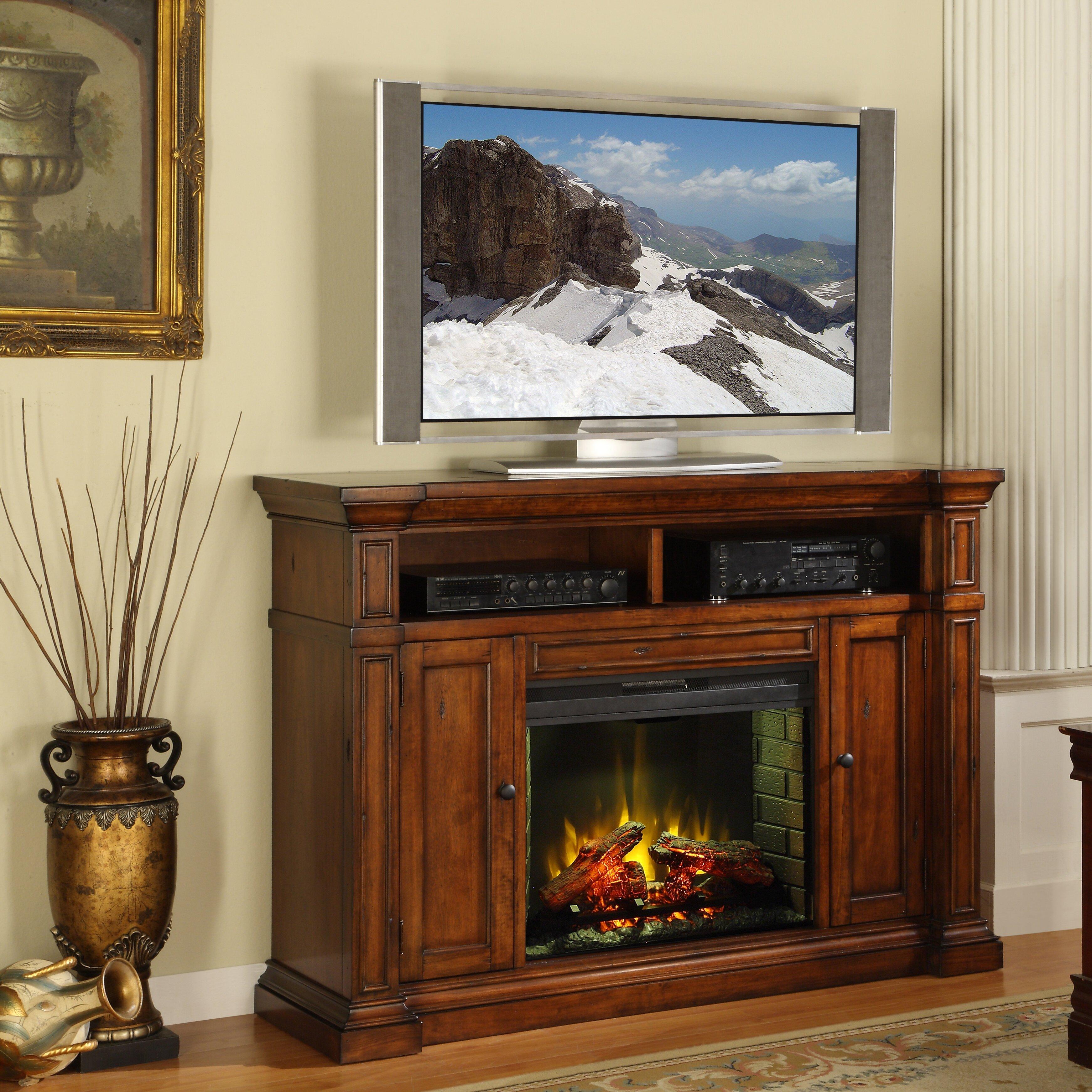 legends furniture berkshire tv stand with electric fireplace reviews wayfair. Black Bedroom Furniture Sets. Home Design Ideas