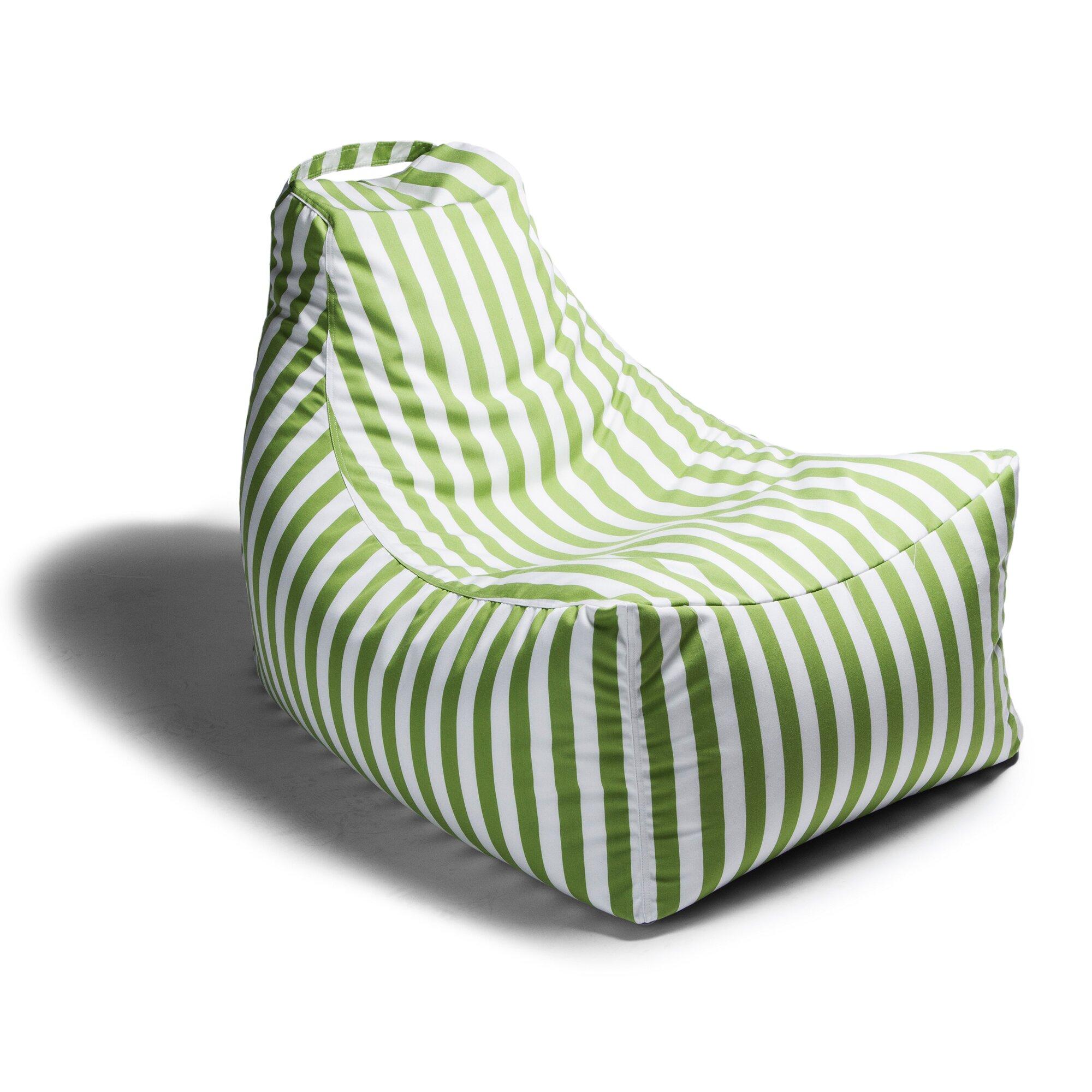 Juniper Outdoor Striped Bean Bag Chair Wayfair
