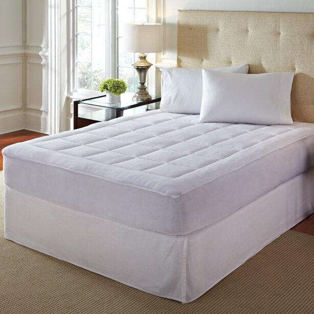 overfilled soft microplush mattress pad. Black Bedroom Furniture Sets. Home Design Ideas