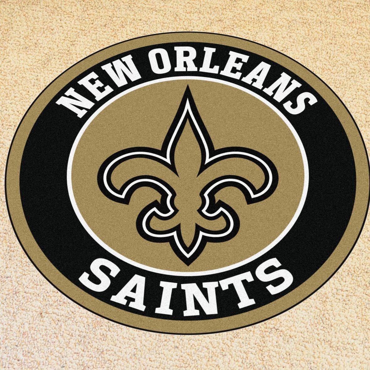 Nfl New Orleans Saints Roundel Mat Wayfair