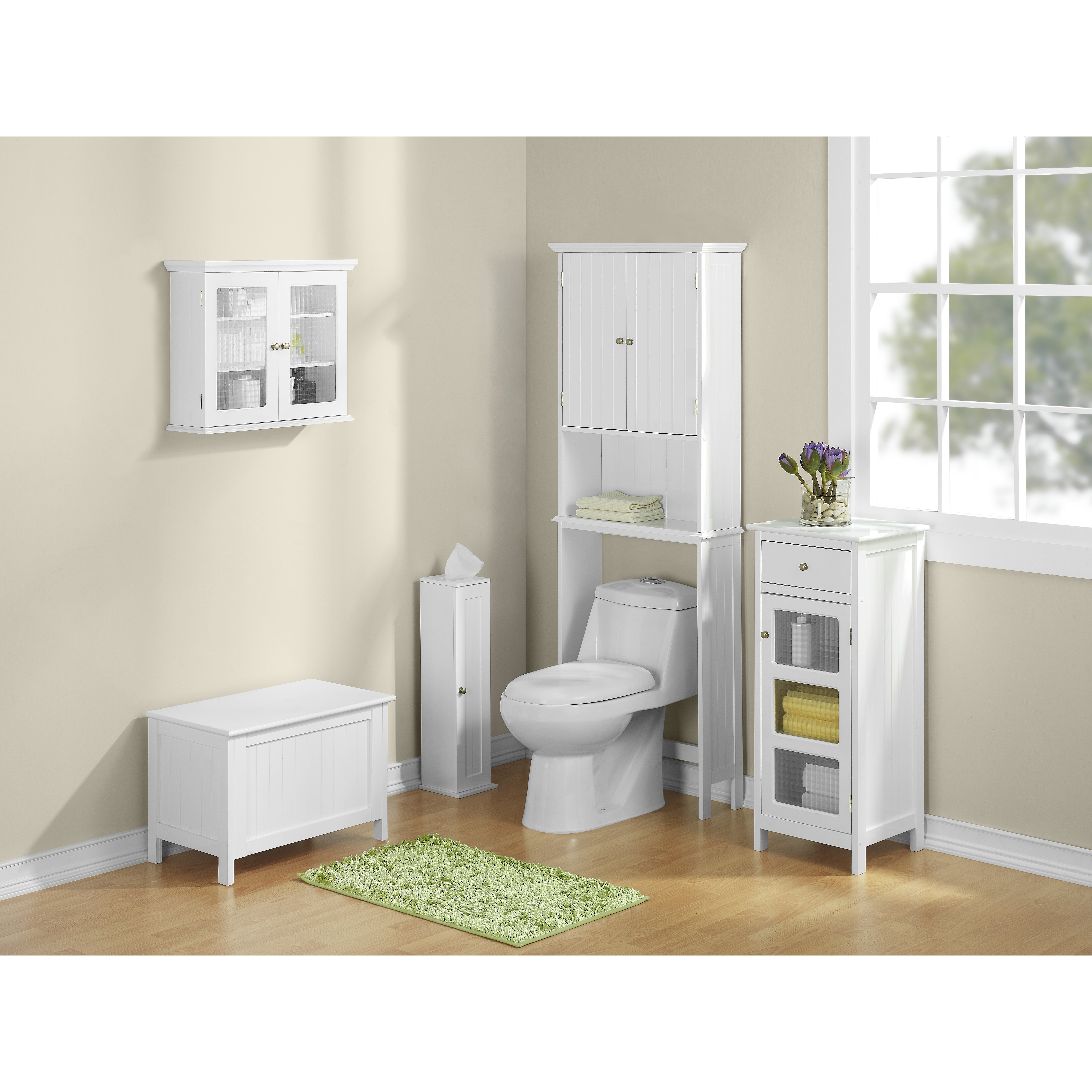 Bathroom space saver 24 5 x 62 5 free standing over the - Space saver furniture for bathroom ...