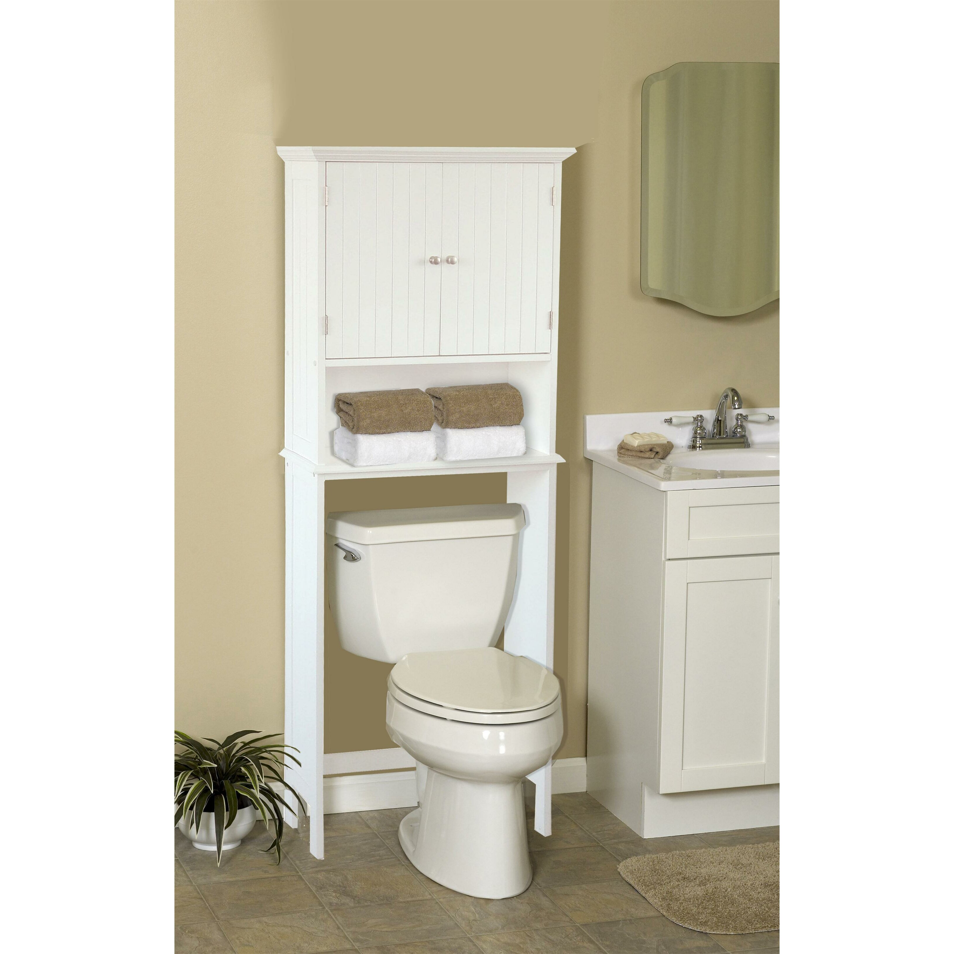 bathroom space saver free standing cabinet joss main