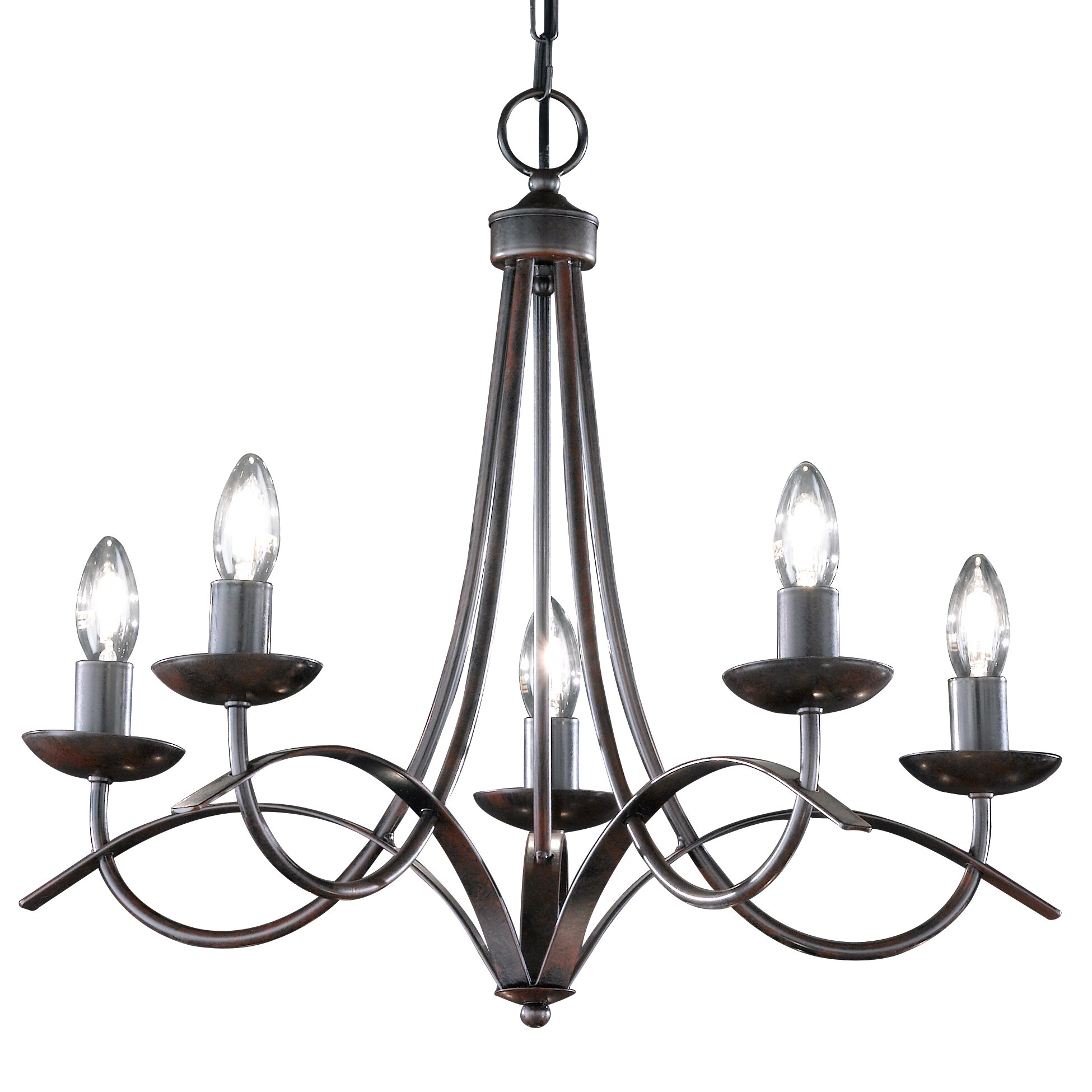 Hannes 5 Light Candle Chandelier