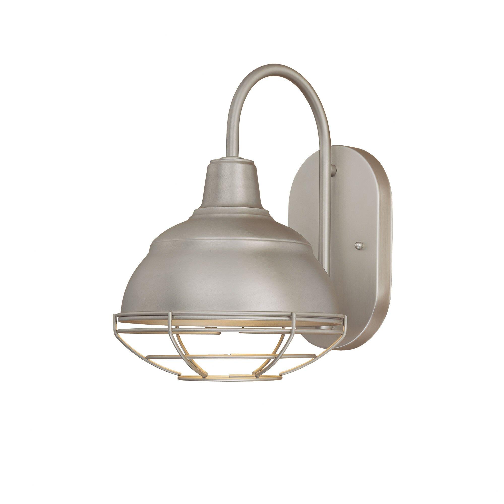 Zjojo Barn Light: Neo-Industrial 1 Light Outdoor Barn Light