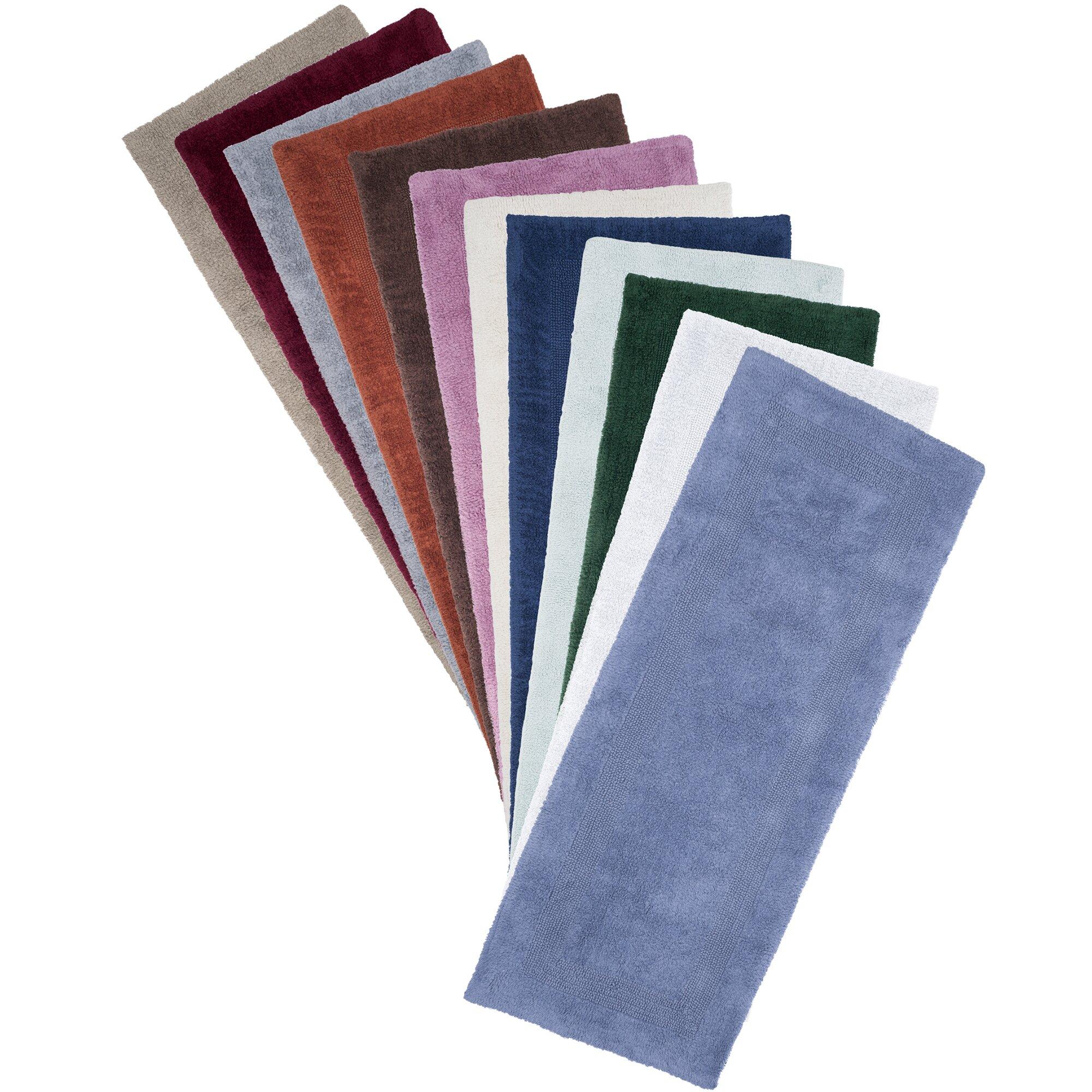 Simple Lavish Home Extra Long Striped Memory Foam Bath Mat Amp Reviews