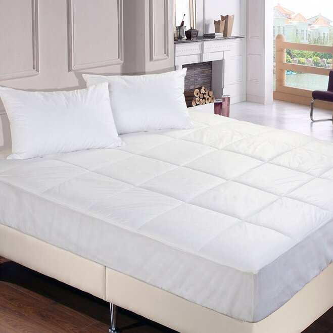 Microfiber Mattress Pad: Polyester Microfiber Down Alternative Water And Stain