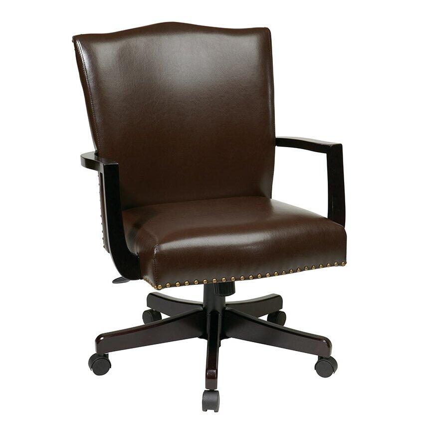 Alcott Hill La Brea High-Back Leather Executive Office ...