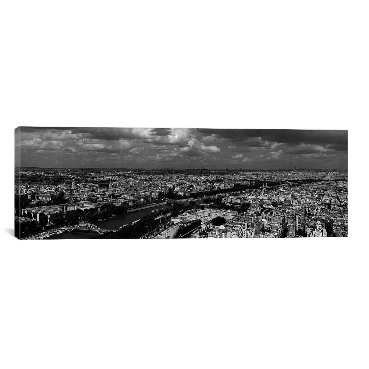 Icanvas Panoramic Aerial View Of A River Passing Through A