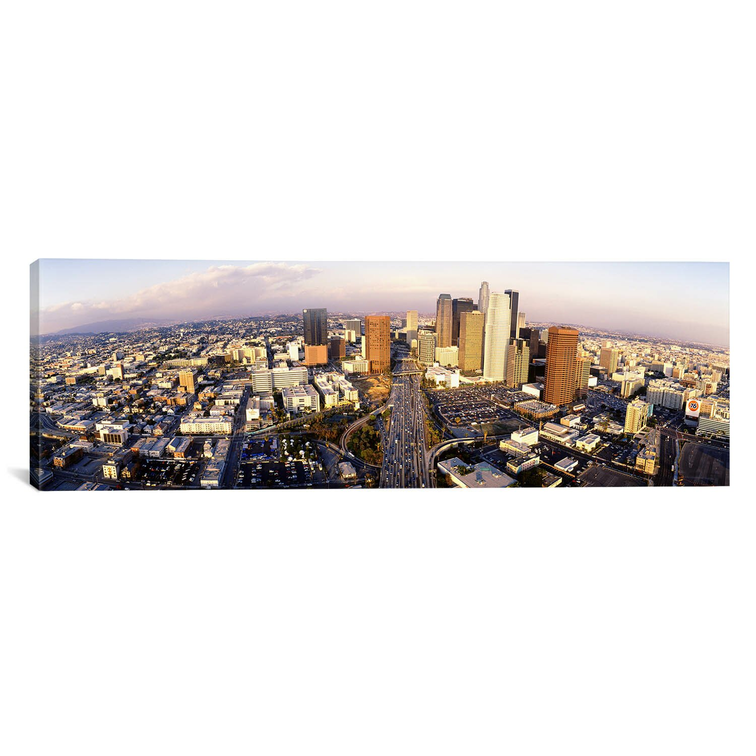 Icanvas panoramic california los angeles financial district photographic pr - Panoramic les angles ...