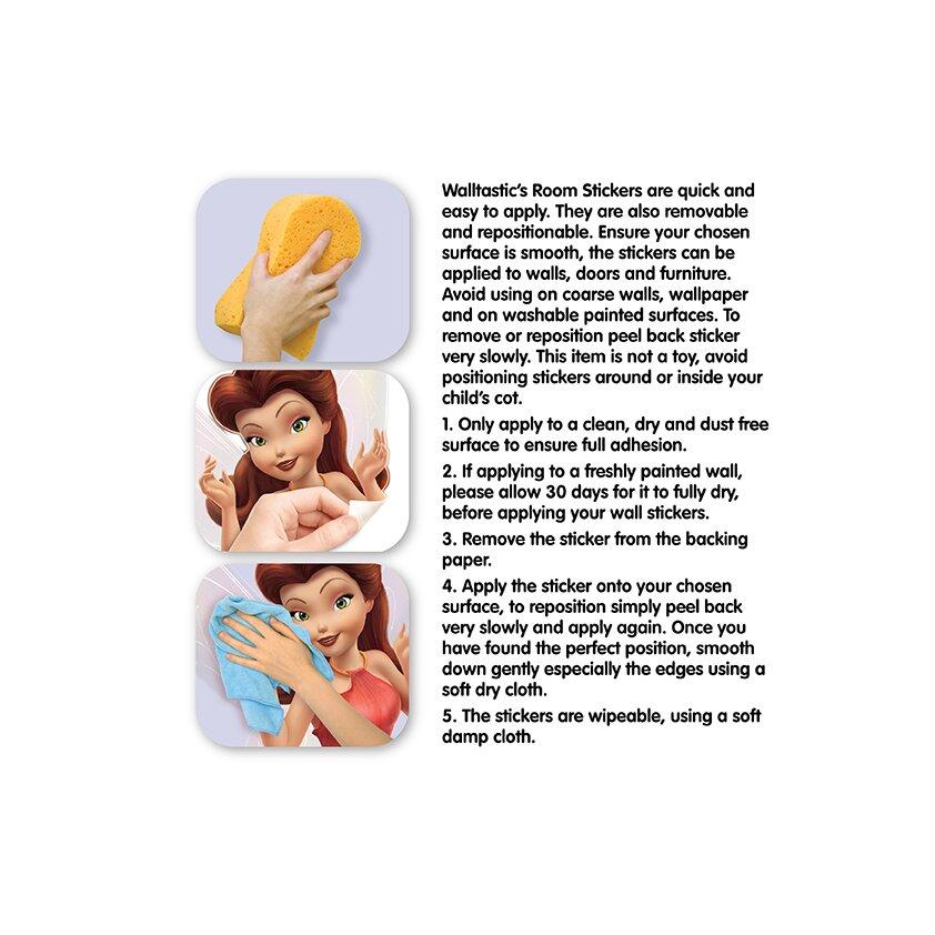 6 piece disney fairies wall sticker set wayfair uk