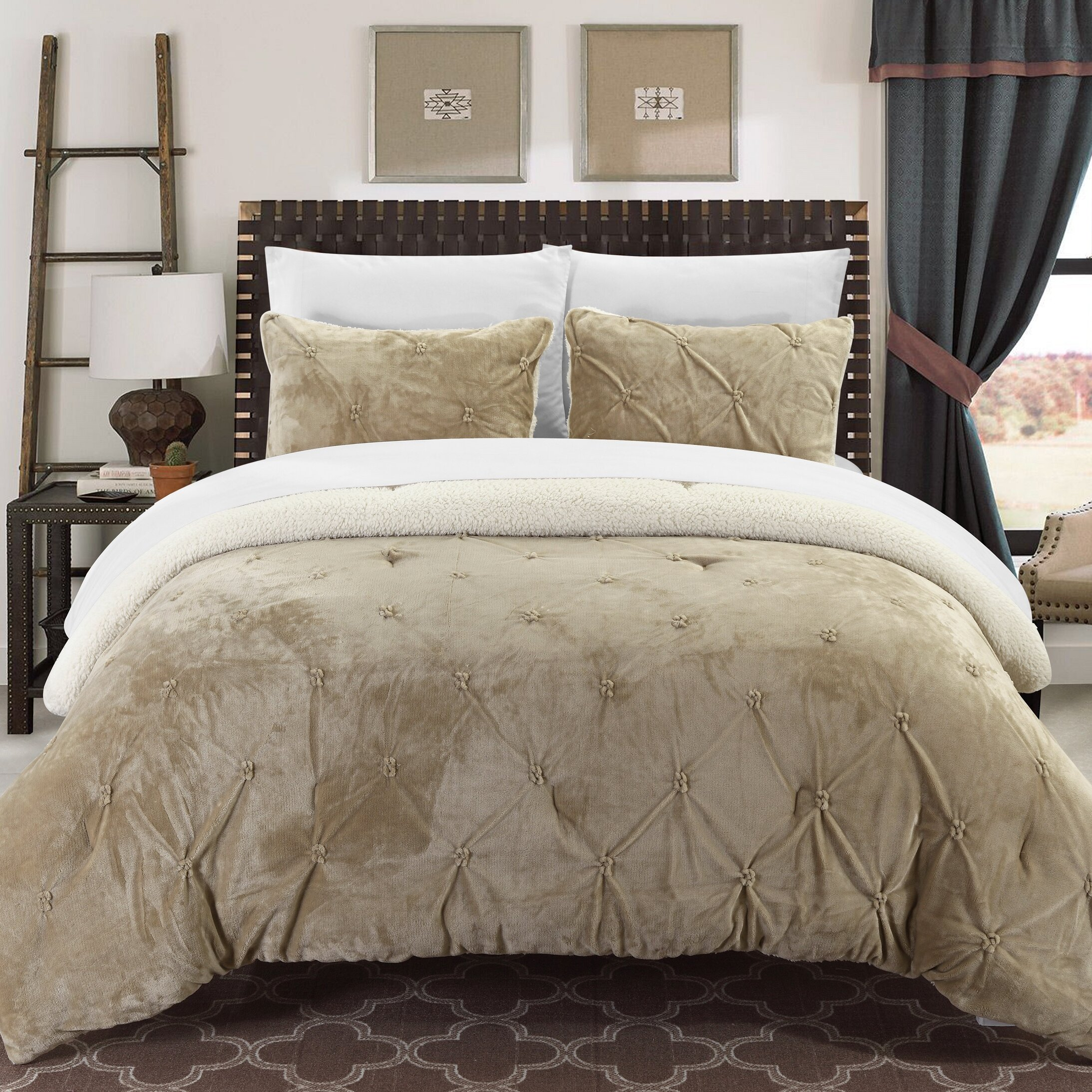 chic home josepha 7 piece comforter set  reviews  wayfair